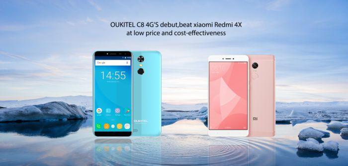 OUKITEL C8 in versione 4G sfida lo Xiaomi Redmi 4X: chi la spunterà?